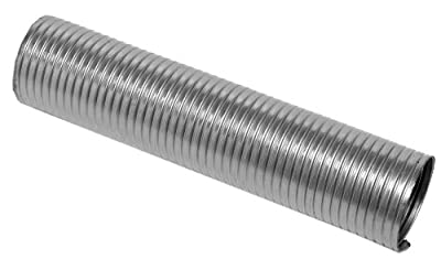"Walker (42423) 4"" Diameter x 18"" Length Stainless Steel Pre-Cut Flexible Exhaust Tube"