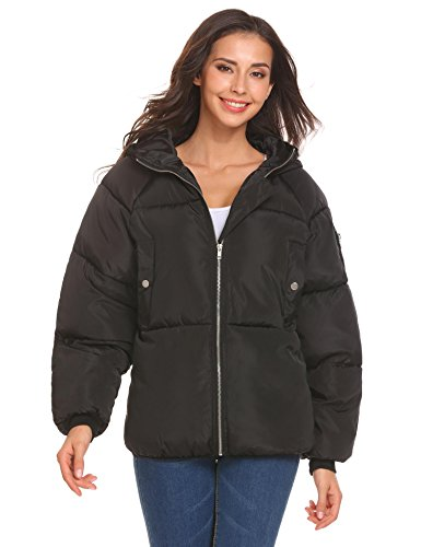 Corgy Women's Winter Thick Warm Parka Windproof Outdoor Puffet Jackets With Drawstring Hood by Corgy