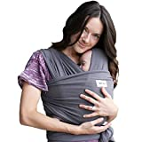 Baby Wrap Ergo Carrier Sling by Sleepy Wrap (Dark Grey)