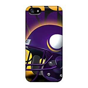 Quality STCentralRoom Case Cover With Minnesota Vikings Helmet Nice Appearance Compatible With Iphone 5/5s