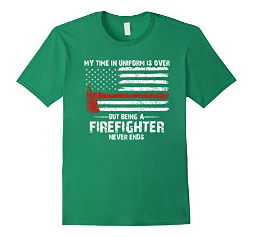 Men's Retired firefighter saying T-shirt - Cool thin red line Tee