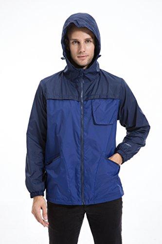 Trailside Supply Co. Men's Waterproof Front Zip Hooded Rain Jacket