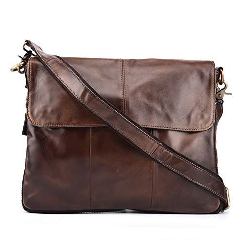 Business Mens Shoulder Bag Messenger Bag Briefcase Large Capacity Retro Coffee Color