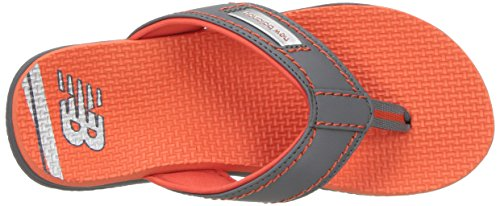 New Balance Unisex-Kids Mojo Thong Flip-Flop, Grey/Orange, P13 M US Little Kid by New Balance (Image #7)