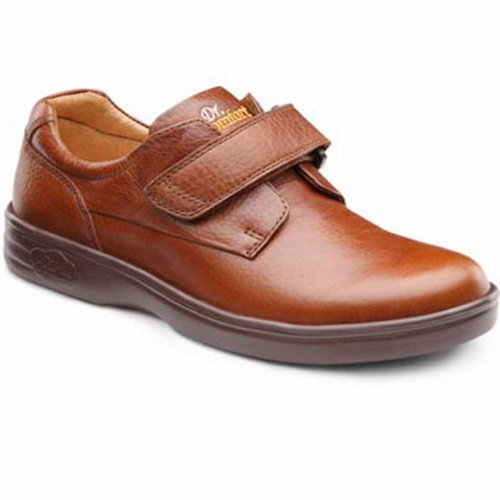 Dr. Comfort Maggy Womens Therapeutic Diabetic Extra Depth Shoe Leather Velcro Chestnut