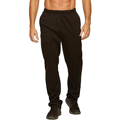 Colosseum Active Men's Open Bottom Camara Fleece Gym Sweatpants (Black, X-Large) from Colosseum