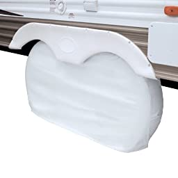 Classic Accessories 80-110-042801-00 OverDrive RV Dual Axle Wheel Cover, White, Large