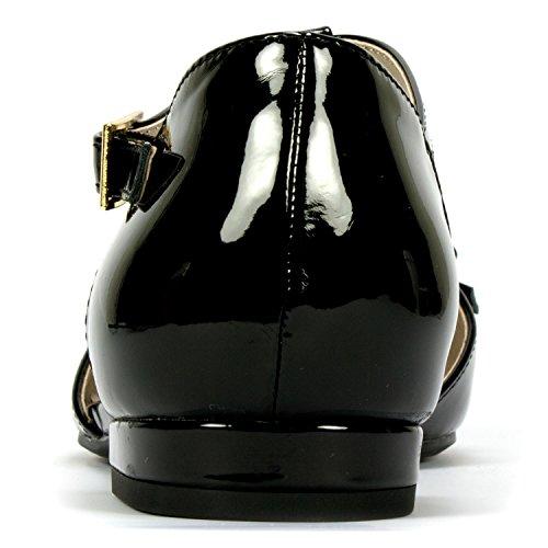 Rialto Annalise Womens Flat Black Patent b3iuIHvtgq