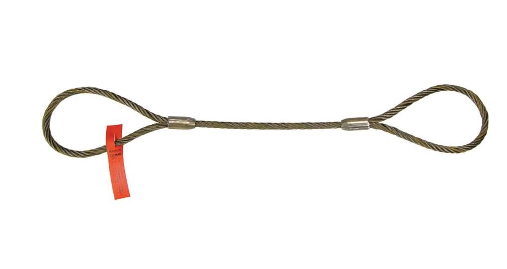 Liftall 58EEX16 Wire Rope Sling, Eye and Eye 5/8'' x 16', 6X19 DOM