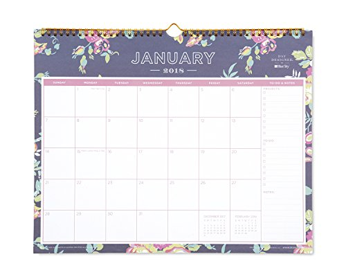 Day Designer for Blue Sky 2018 Monthly Wall Calendar, Twin-Wire Binding, 15