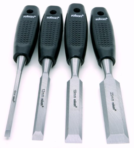 Rolson 56159 Wood Chisel Set - 4 Pieces