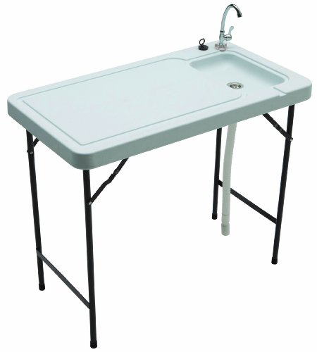Tricam Outdoor Fish and Game Cleaning Table with Quick-Connect Stainless Steel Faucet, 150-Pound Load Capacity from Tricam