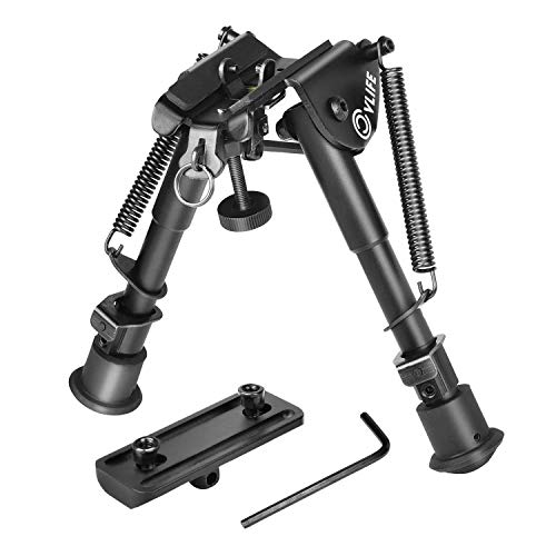 CVLIFE Bipod Adjustable Spring Return with Keymod Mount Adapter 6-9 Inches