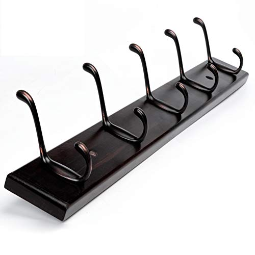 - Wall-mounted Coat rack,Solid wood/Punch and punch free Dual use/Water-based paint/Strong load bearing/Entrance wall clothes hook/Multifunctional coat rack