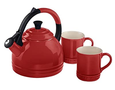 Le Creuset Enamel on Steel Kettle and Mug Gift Set