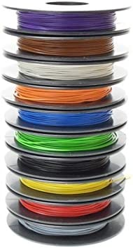 NorthPada 28 AWG 0,08mm/² Kit de Fil /électrique torons Fils de silicone Fil /étam/é C/âble Cable de cuivre 6 Couleur pour circuit imprim/é PCB 200V 0,8A 6 x 13 M/ètres
