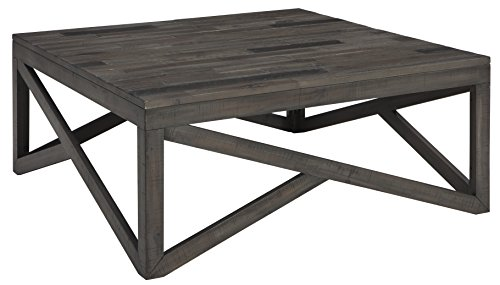 Cheap Ashley Furniture Signature Design – Haroflyn Contemporary Square Cocktail Table – Gray
