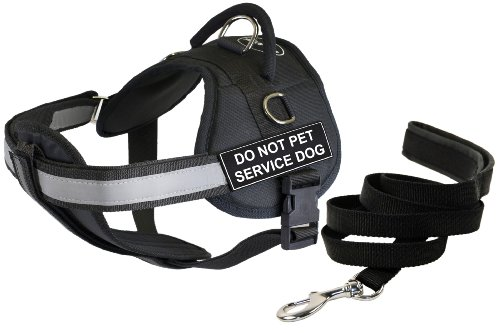Dean & Tyler 28 by 38-Inch Do Not Pet Service Dog Harness with Padded Puppy Leash, Medium by Dean & Tyler