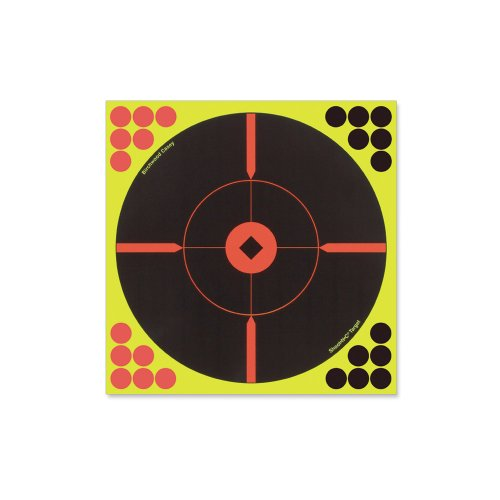 SHOOT-N-C 12 Inch Bullseye Targets - 5 Count Pack with 120 Pasters ()