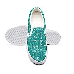 Mortimer Women S Classic Canvas Slip On Fashion Sneakers Green Physic Electrical Equations Casual Loafers
