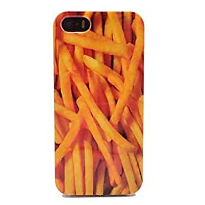 LZXFrench Fries Graphics TPU Soft Case for iPhone 5/5S