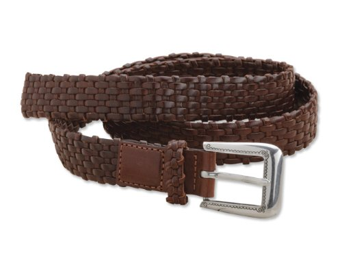 [Orvis Basketweave Leather Belt, Small] (Orvis Braided Belt)