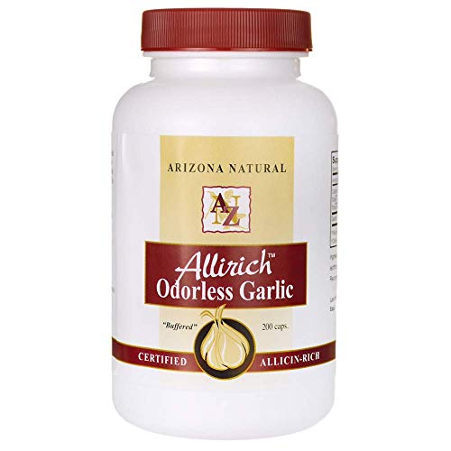 - Arizona Natural Allirich (Allicin-Rich) Odorless Garlic Soft-gels