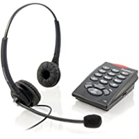 Executive Pro Telephone System and Corded Headset Combo – Make Calls, Easy Set-Up, Noise-Canceling Microphone. Includes 2-Year Warranty (Chattaway Phone Bundle)