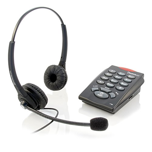 Executive Pro Telephone System and Corded Headset Combo – Make Calls, Easy Set-Up, Noise-Canceling Microphone. Includes 2-Year Warranty (Chattaway Phone Bundle) (Executive Telephone)