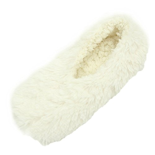Ballerina White Home Sole Slipper House Slippers Soft Ballet Plush Women's Indoor BqwE7qP