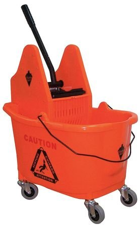 Tough Guy 5CJK5 Mop Bucket/Wringer, Orange, 35Qt. by Tough Guy