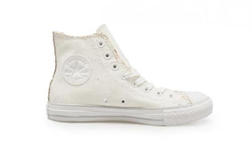 c82e49198d7 Converse Unisex - Chuck Taylor All Star Ox High - White Gold - UK 7 ...
