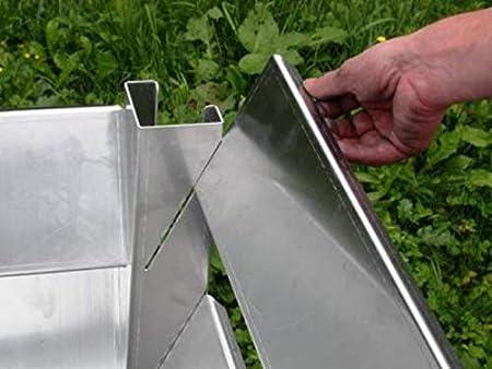 Compostador 120 x 120 x 80 (tamaño interior) de aluminio resistente a las inclemencias del tiempo, metal: Amazon.es: Jardín