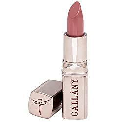 Gallany Cosmetics Creme Satin Natural Pink Lipstick, Hydrates Dry Lips, Wears Like Lip Balm, Cruelty-Free, Made in USA (Nutmeg)