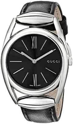 Gucci Horse-Bit Collection Analog Display Swiss Quartz Silver Women's Watch(Model:YA139401)