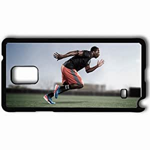 Personalized Samsung Note 4 Cell phone Case/Cover Skin Adidas adizero feather running sprint man Black