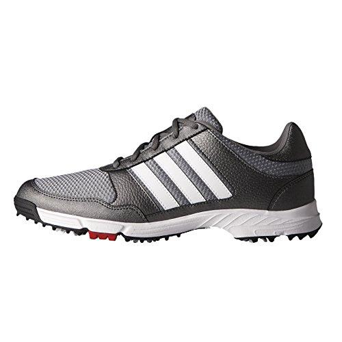 adidas Men's Tech Response Golf Shoe, Iron Metallic/White, 10.5 W US by adidas