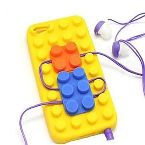 SHOUJIKE Soft Bricks Back Case Cover for iPhone 5/5S(Assorted Colors) , Dark Blue