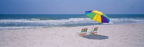 Sunshade Alabama (Walls 360 Peel & Stick Wall Mural: Chairs on the Beach Gulf of Mexico (48 in x 16 in))