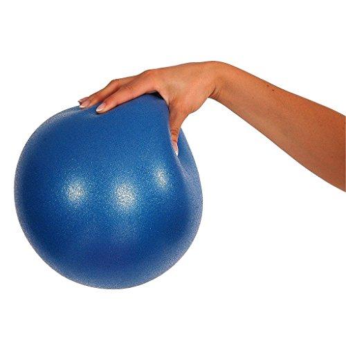 MVS Ballon 17 – 19 cm souple + 2 bouchons + paille, pilates gymnastique, yoga, gym, soft over ball – Bleu