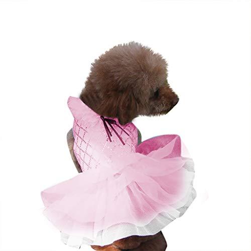 SuperUS_Pet Summer Bowknot Dress Tutu Skirt for Small