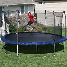 17' x15' Oval Trampoline and Enclosure Pad Color: Blue by Skywalker Trampolines