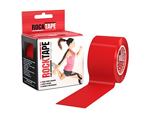 RockTape Original 2-Inch Water-Resistant Kinesiology Tape, 16.4-Foot Continuous Roll, Red