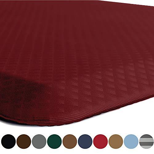 Kangaroo Original Standing Mat Kitchen Rug, Anti Fatigue Comfort Flooring, Phthalate Free, Commercial Grade Pads, Waterproof, Ergonomic Floor Pad for Office Stand Up Desk, 39x20, Red