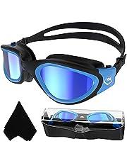 Volwassen zwembril,Gepolariseerde Open Water Goggles Zwemmen Anti Fog UV Bescherming Geen Lekkage Clear Vision Gemakkelijk aan te passen voor Volwassenen Mannen Vrouwen Tieners
