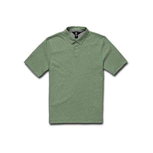 Volcom Big Boys' Wowzer Modern Fit Cotton Polo, Dusty Green, Small
