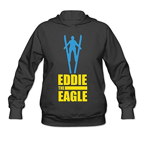 (SAMMOI Eddie The Eagle Men's Soft Fleece Sweatshirt M Black)