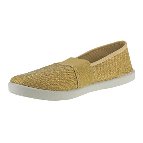 Appartements D'or Femmes Les Multicolores 10 Des Loafer Médailles Fashion4young Roses d4fn4r8