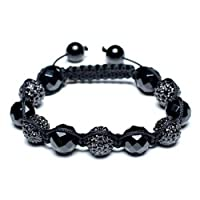 Bling Jewelry Shamballa Inspired Bracelet Onyx Beads Alloy