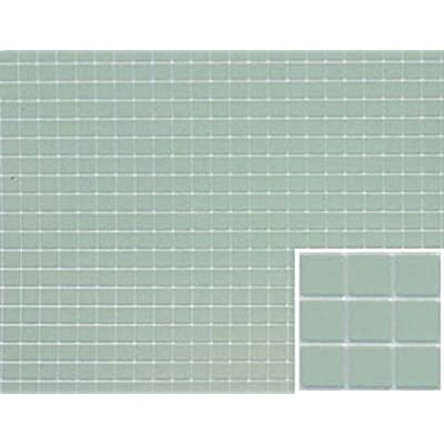 Dollhouse Miniature Square Tile Flooring in Sea Green Blue: Toys & Games